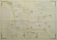 Antique Manuscript Map - Forest of Andely