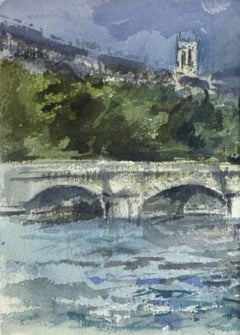 French Watercolor - Paris Bridge
