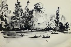 French Pen & Ink - Afternoon Retreat