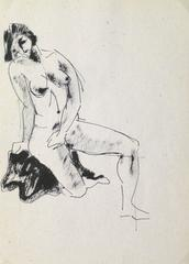 French Pen & Ink - Female Nude