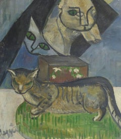 French Oil Painting - The Cat's Meow