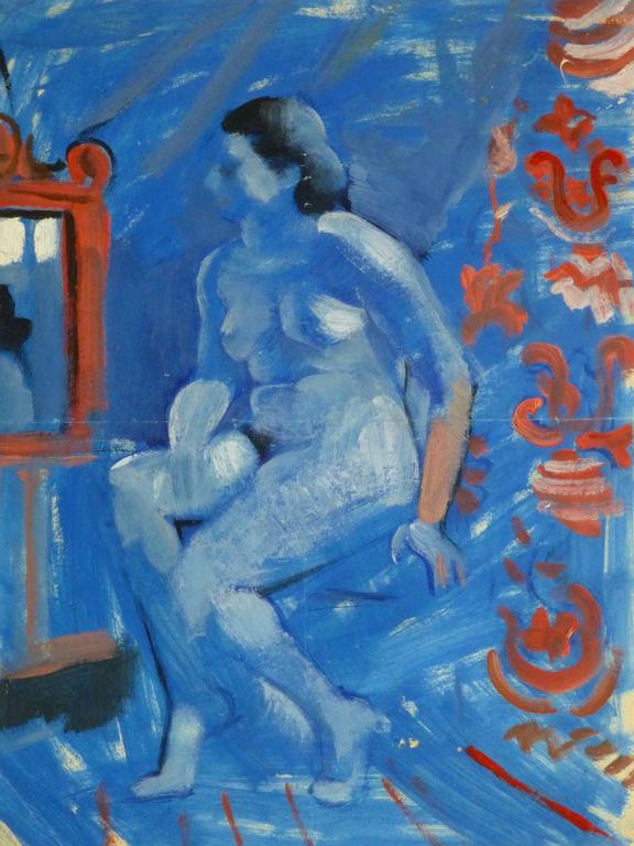 French Gouache - Bleu View