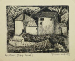 French Etching - Cap Corse