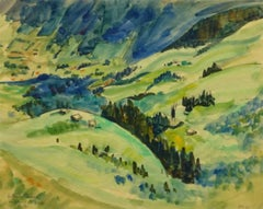 French Watercolor - Alpine Foothills