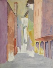 French Watercolor - Pastel Town