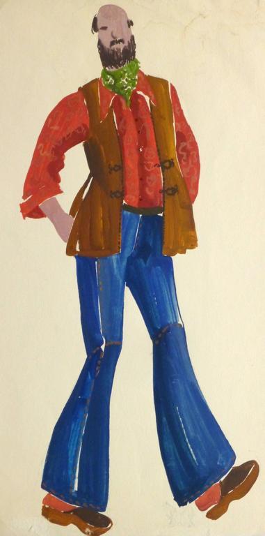 French Fashion Sketch - Men's Daywear