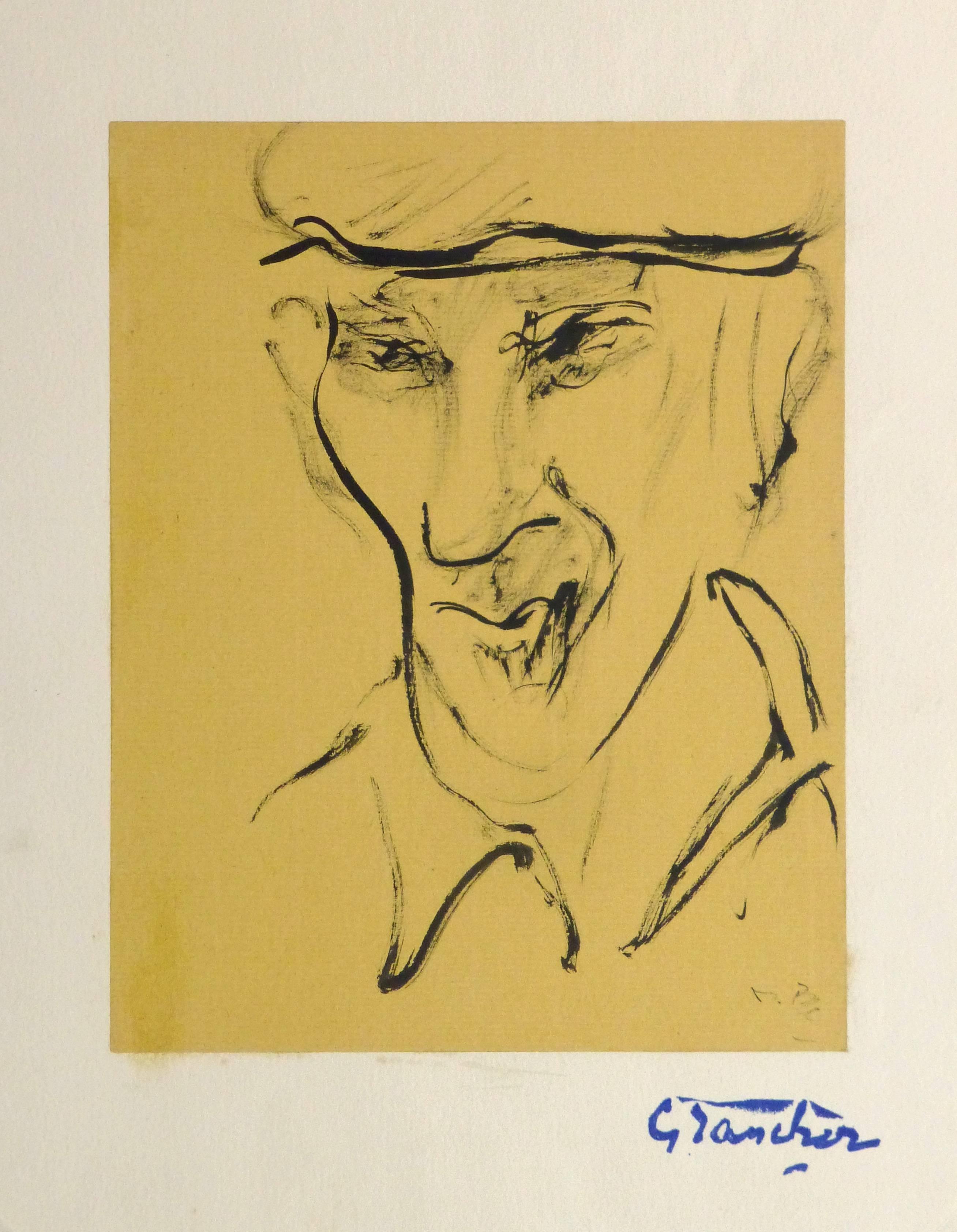 French Ink Portrait - The Farmhand