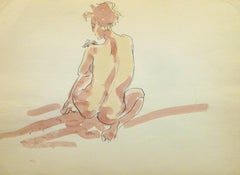 French Ink & Watercolor - Pink Nude