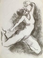 Charcoal Drawing - The Dancer