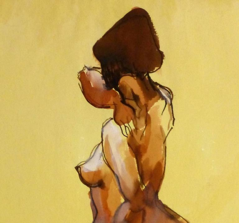 Watercolor and Ink Nude - Beauty - Painting by Kei Mitsuuchi