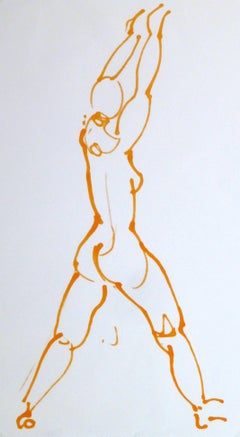 French Ink Drawing - Couleur Nude