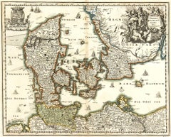 Map of Denmark,  1724