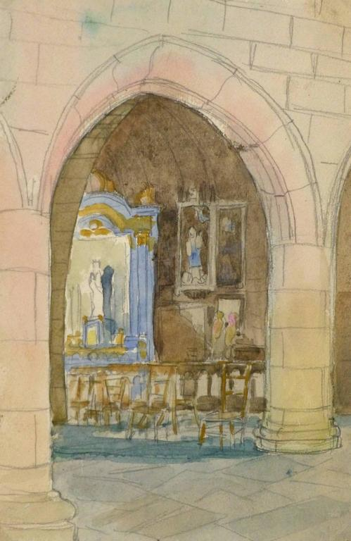 Unknown Church Architecture Painting For Sale At 1stdibs