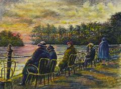 Paris Bois de Boulogne Landscape Painting