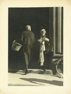 Vintage Silver Gelatin Photograph - Provence Market