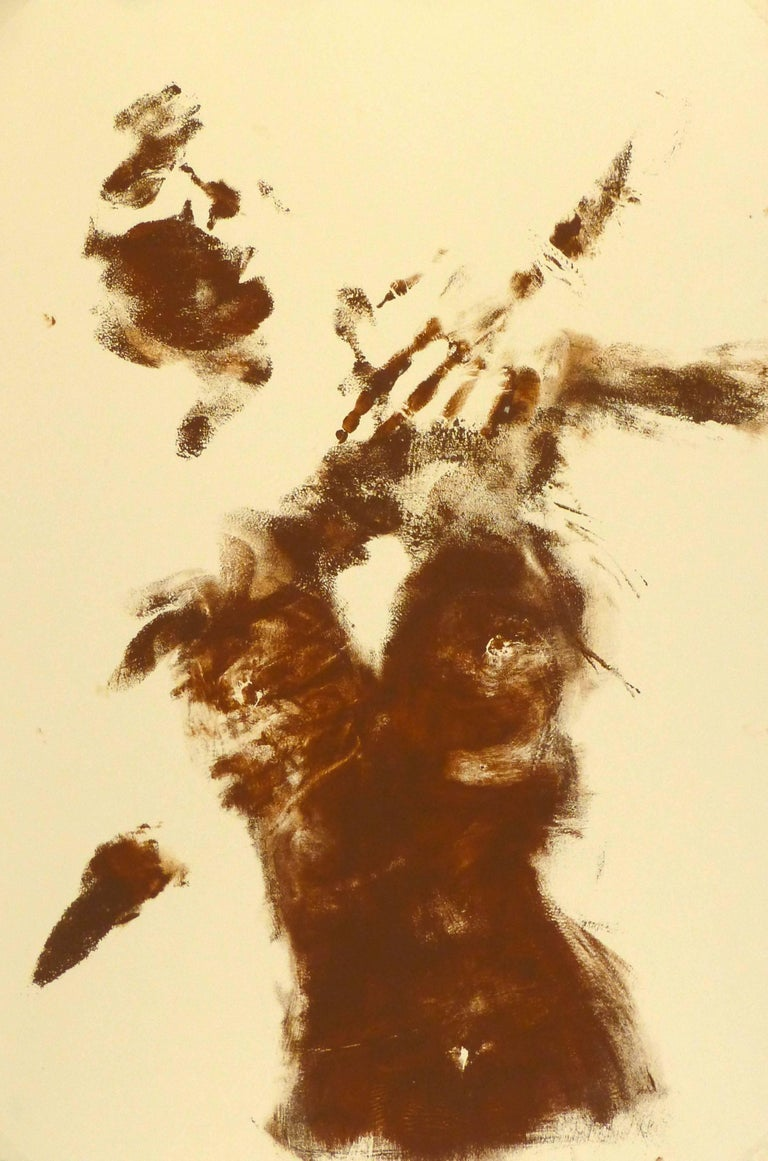 Kismine Varner Nude Painting - Abstract Nude Body Art Painting