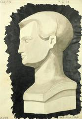 Drawing of Male Bust