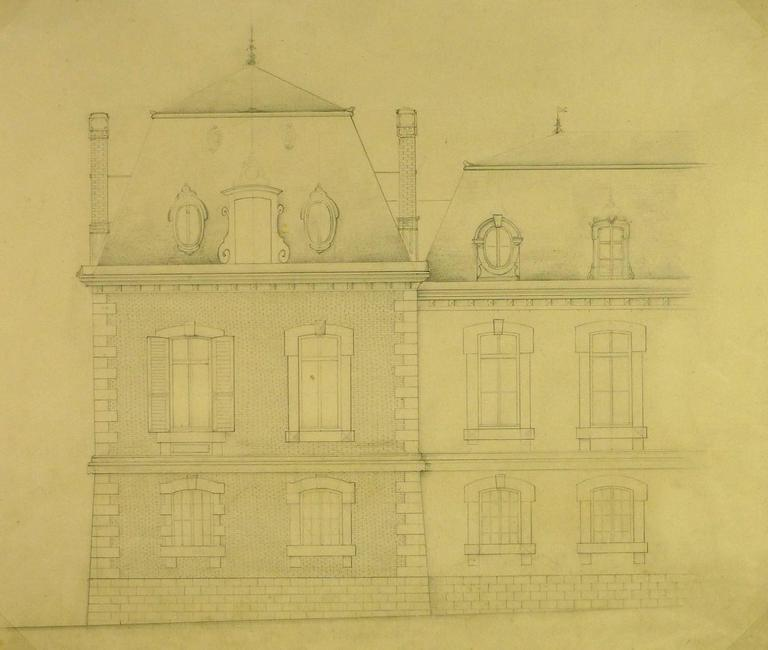 Unknown french architectural drawing for sale at 1stdibs for Architectural drawings for sale