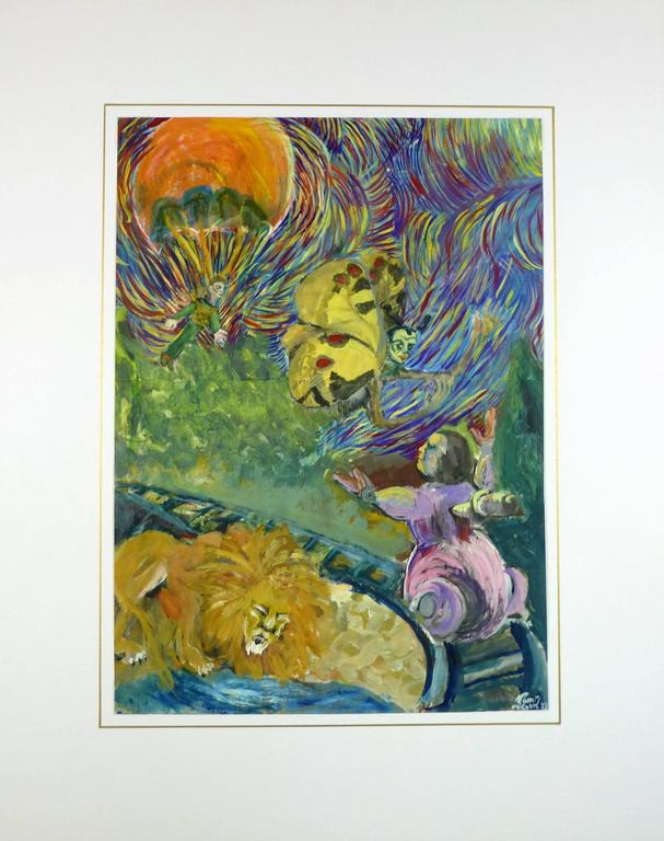 Unknown Colorful Surrealist Dreamscape Painting For
