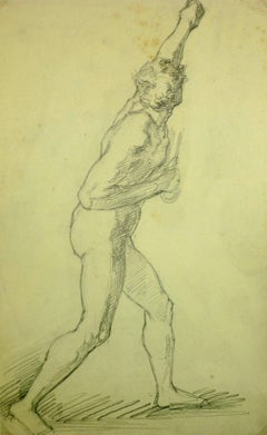 Nude Figure of Male Striking Pose