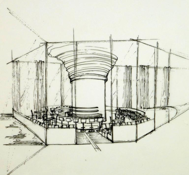 Architectural Drawing of Bar