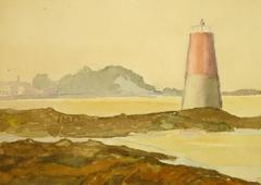 Watercolor of Lighthouse