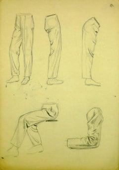 Pencil Sketch of Men's Legs