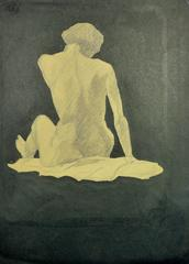 Nude Figure in Pencil and Ink