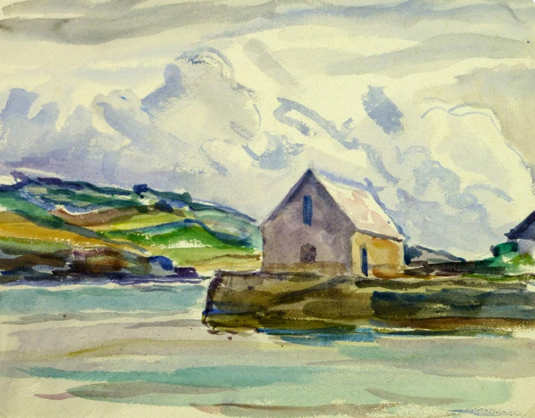 C. Groux Landscape Art - House by the Water
