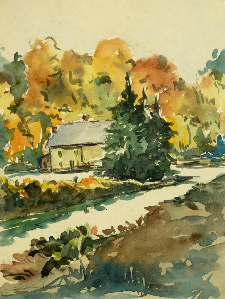 Unknown Landscape Art - House in the Trees
