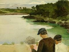 Men by Lake
