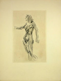 Nude Female Etching