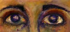 Close Up of Eyes in Oil