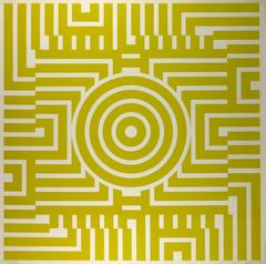 Yellow Abstract Maze