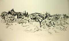 Provençal Scene in Ink