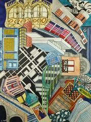 Modern Cityscape Abstract