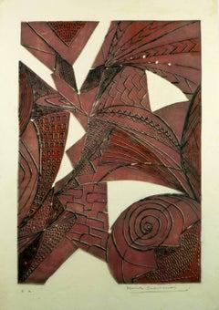 Mid-century purple abstract