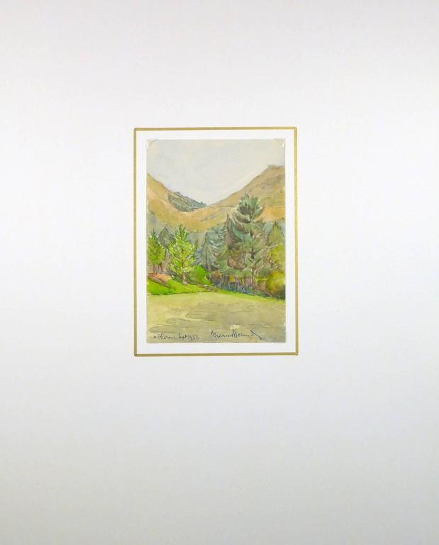 Côte d'Azur - Brown Landscape Art by Marcel Bernard