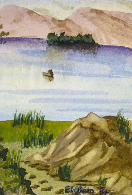 Countryside Lake - Art by E.G. Bain