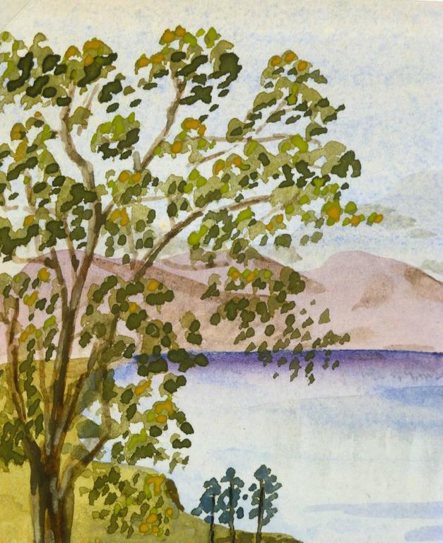 Countryside Lake - Brown Landscape Art by E.G. Bain