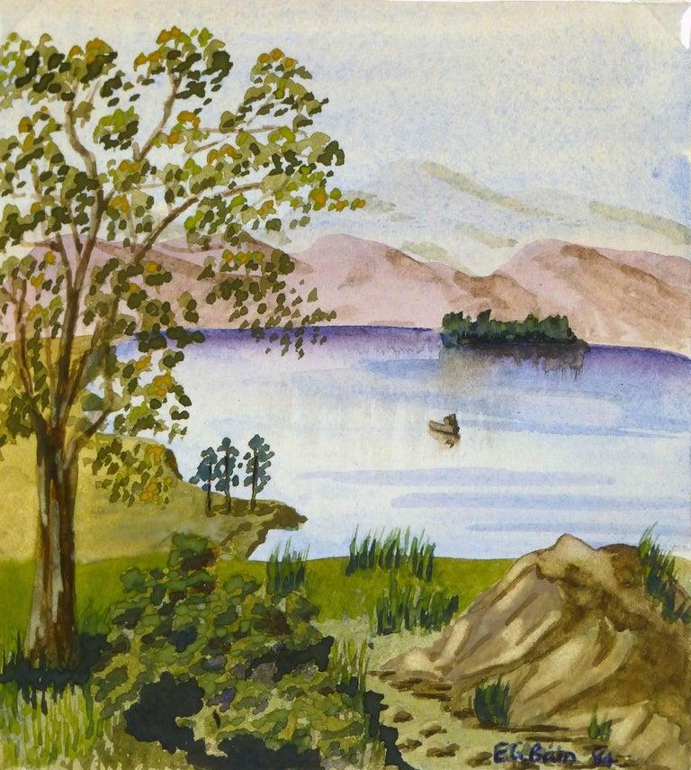 E.G. Bain Landscape Art - Countryside Lake