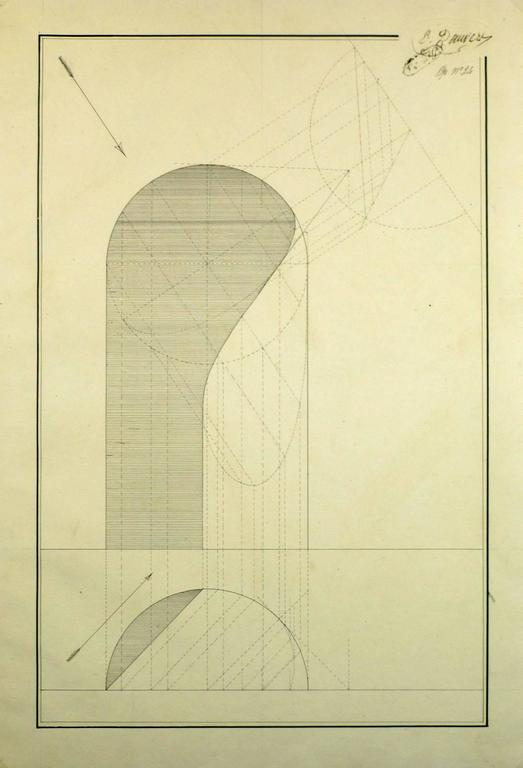 Unknown architectural drawing for sale at 1stdibs for Architectural drawings for sale