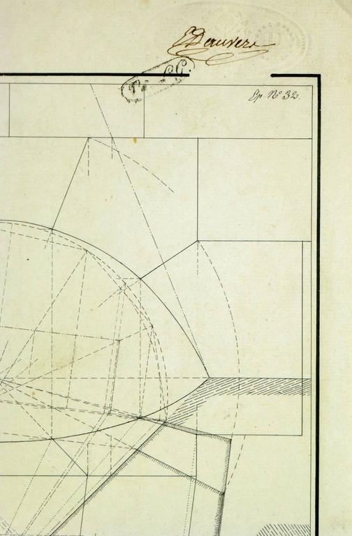 Unknown drafting architectural drawing for sale at 1stdibs for Cheap architectural drawings
