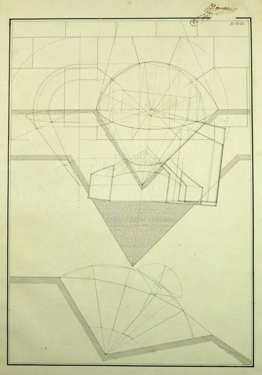 Unknown drafting architectural drawing for sale at 1stdibs for Architectural drawings for sale