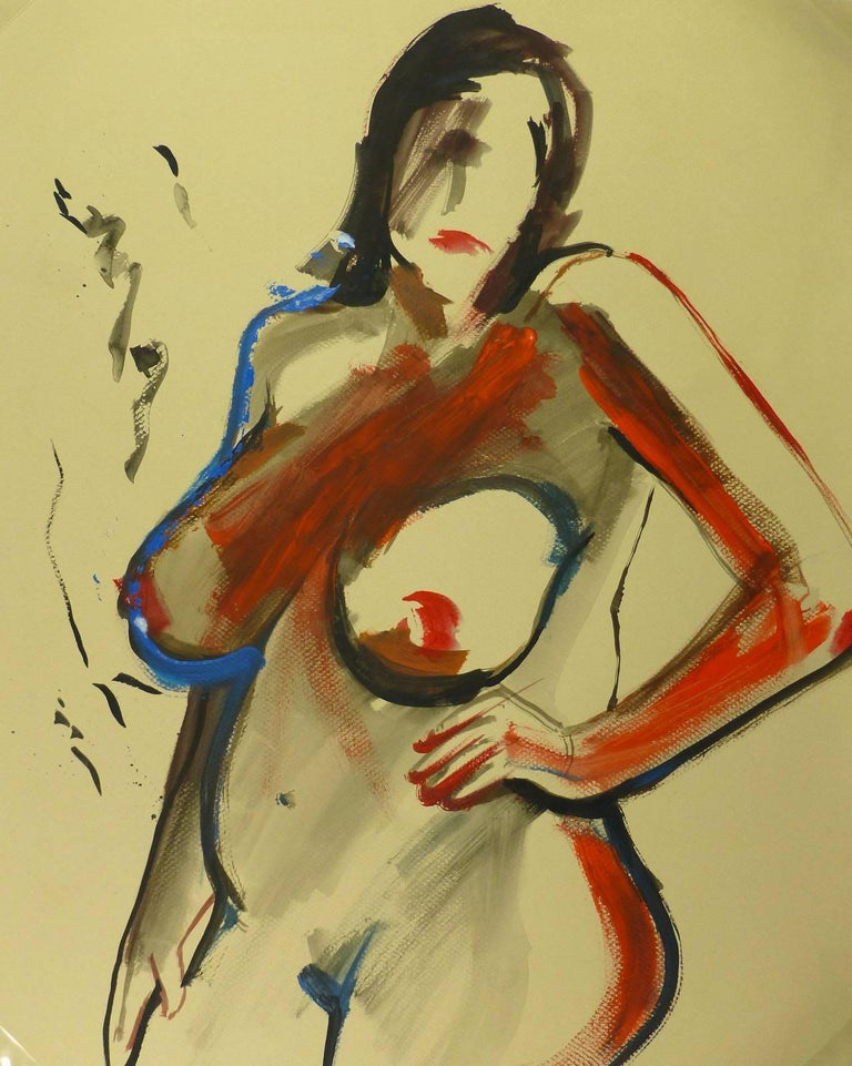 Unknown Nude Painting - Nude in Red