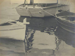 French Silver Gelatin Photograph - Boats