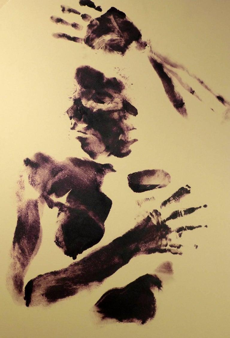Body Art  - Beige Nude Painting by Kismine Varner