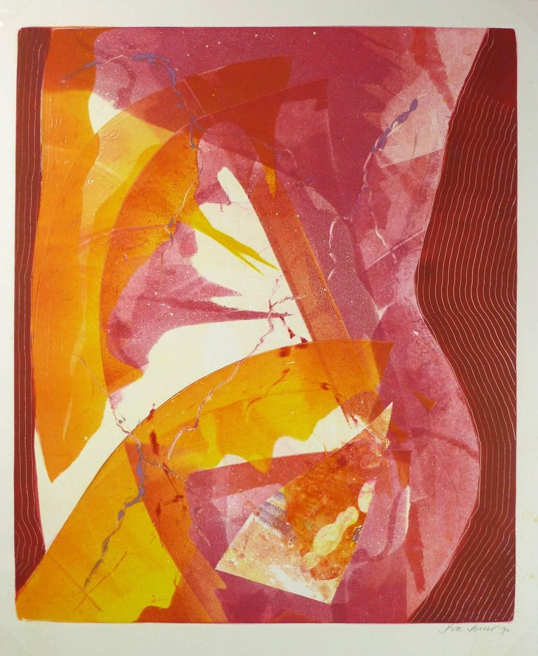 Abstract in Red & Orange