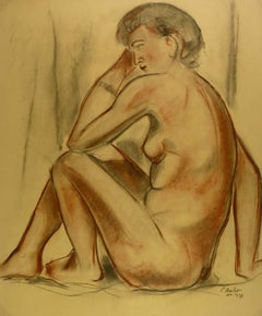 Nude Female in Charcoal