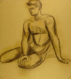 Nude Male Charcoal
